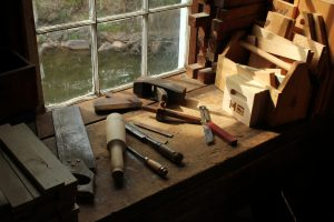 hand tools at Hanford Mills
