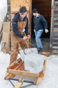 Loading ice in the ice house