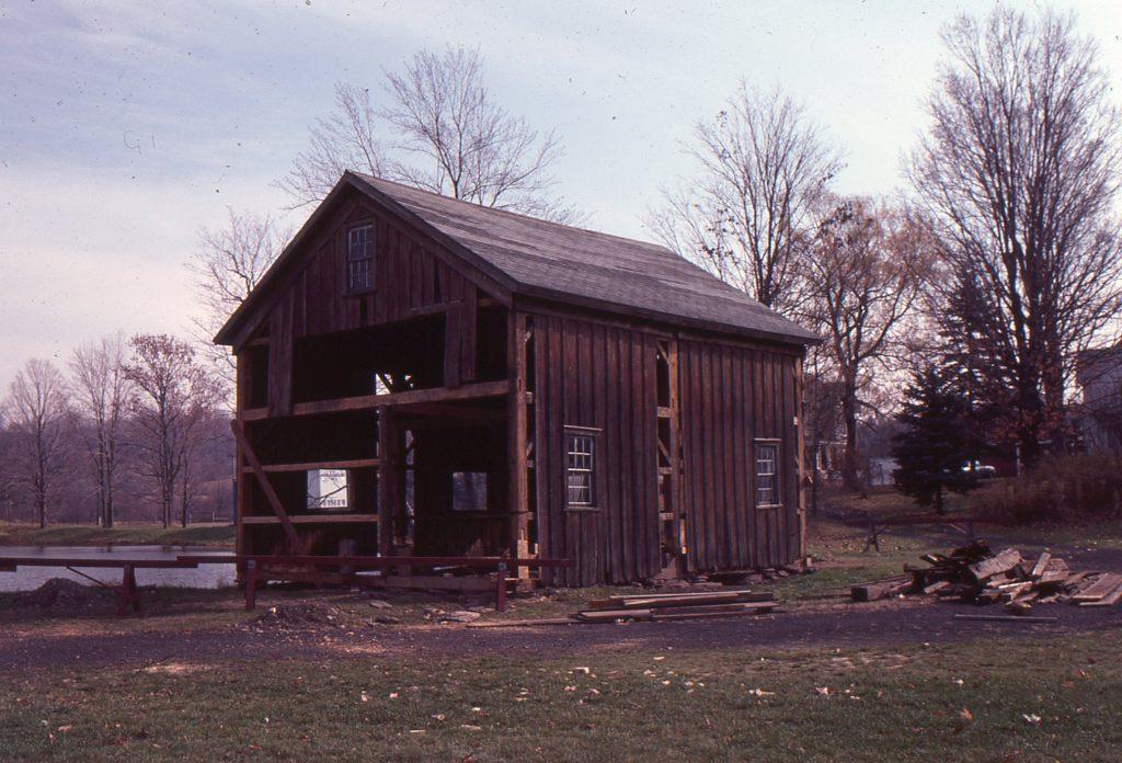 2-40-22-CA. 1850 Barn Beginning Restoration